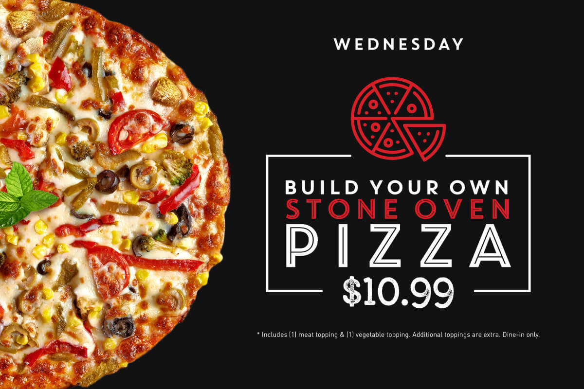 Build your own stone oven pizza