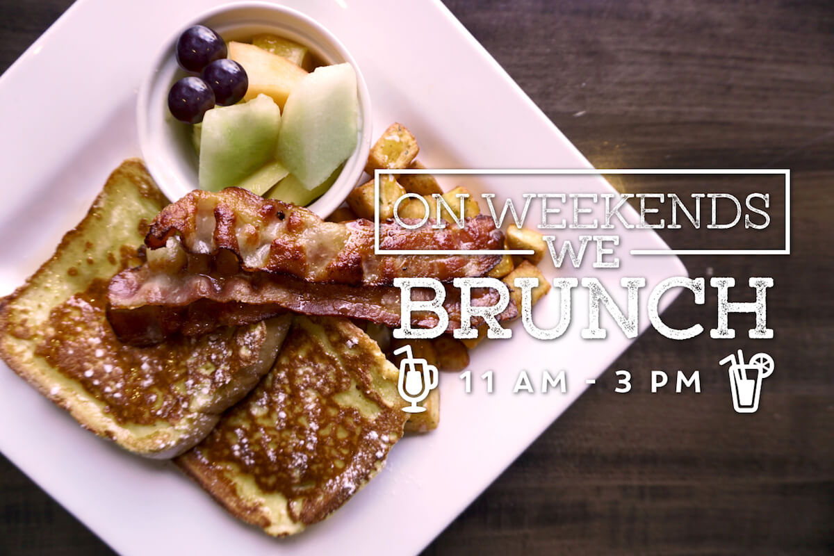 On weekends, we brunch